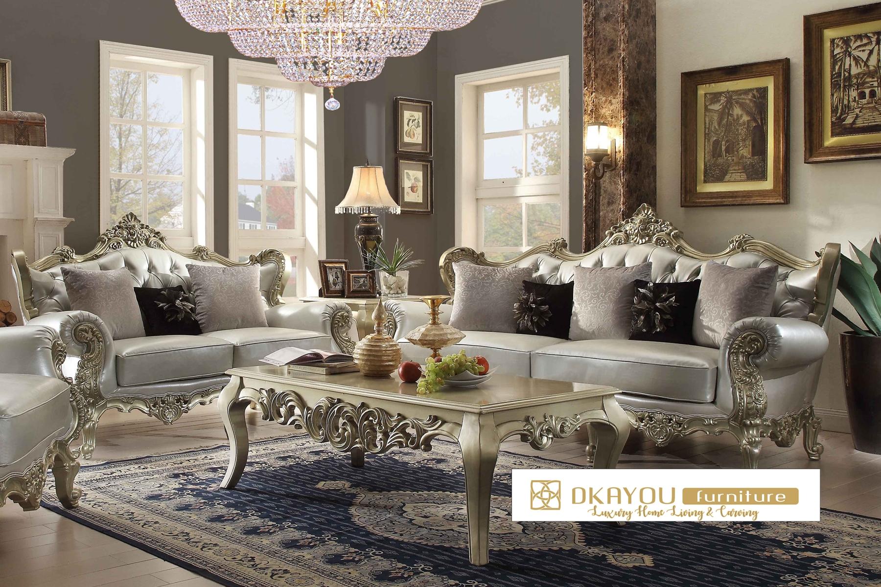 Set Kursi Sofa Ruang Tamu Klasik Mewah
