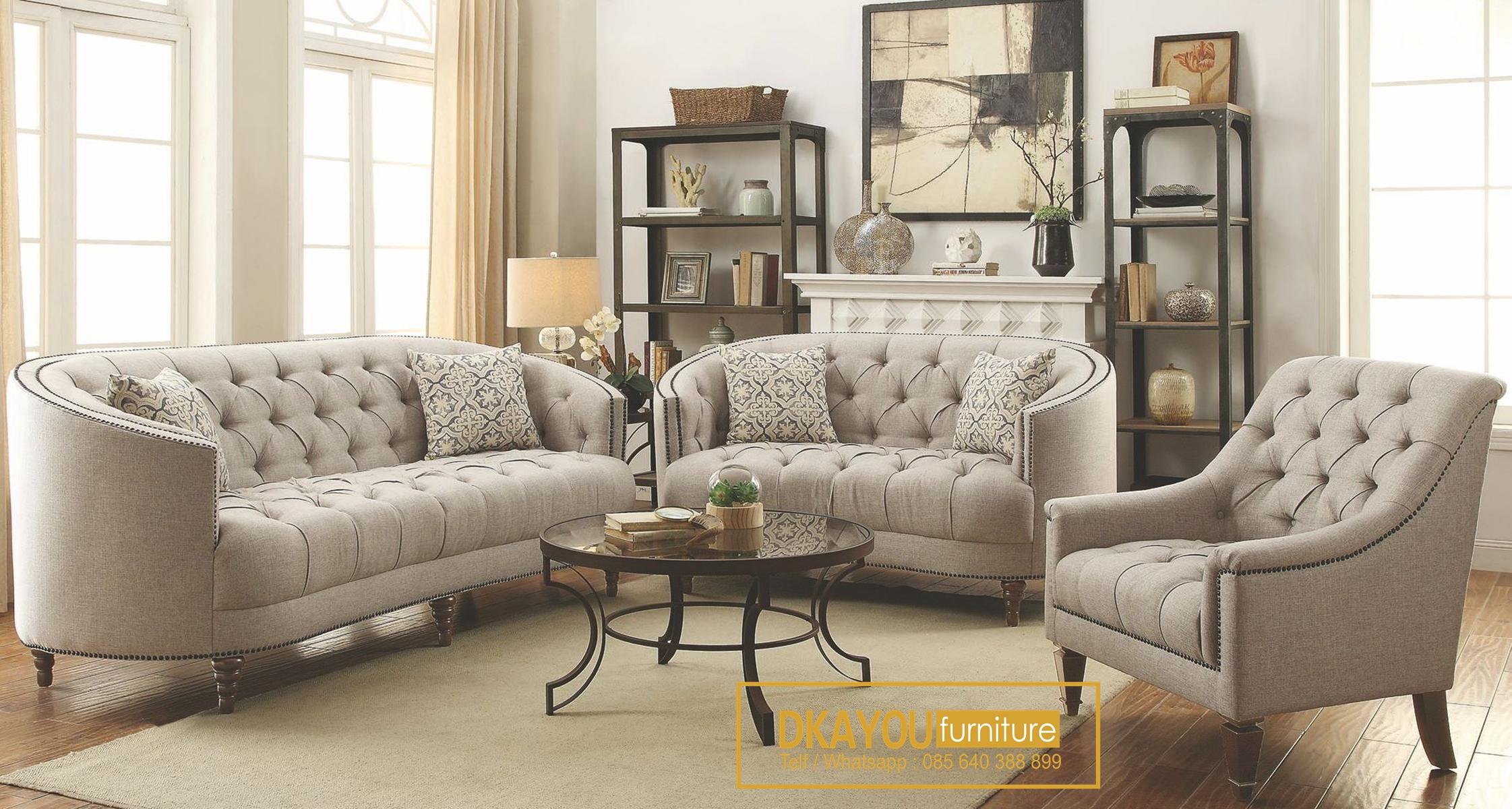 Set Sofa Tamu Minimalis Modern Vintage Retro Homedecor Vintage