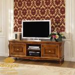 Meja Tv Jati Klasik Eropa Design Bufet Tv Jati Jepara BTV-014 DF