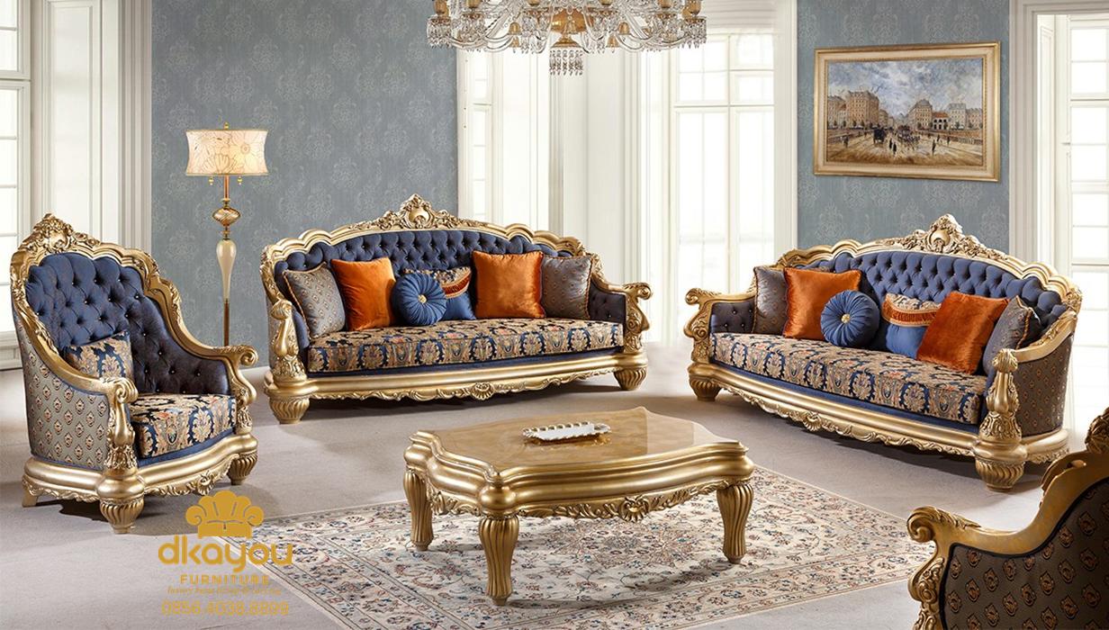 1 Set Sofa Ruang Tamu Model Mewah Klasik