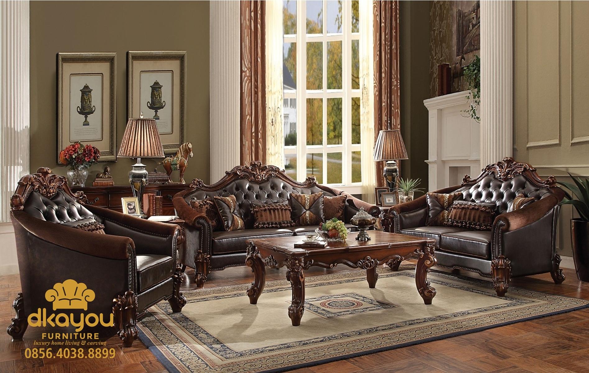 Sofa Jati Jepara Set Ruang Tamu Mewah