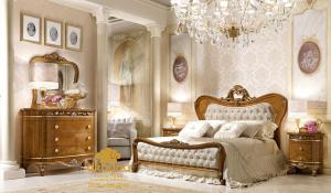 Contoh Desain Set Kamar Tidur Minimalis Jati SKT-045 DF