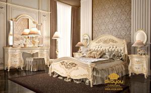 Gambar Set Kamar Tidur Minimalis Klasik Jepara SKT-046 DF