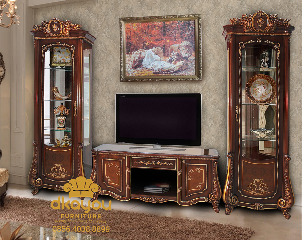 Bufet TV Klasik Mewah Terbaru