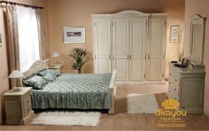 Harga 1 Set Kamar Tidur Minimalis Klasik Jepara Murah SKT-049 DF