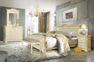 Model Tempat Tidur Minimalis Klasik Mewah Terbaru SKT-050 DF