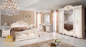 Set Kamar Tidur Putih Mewah Furniture Jepara SKT-051 DF