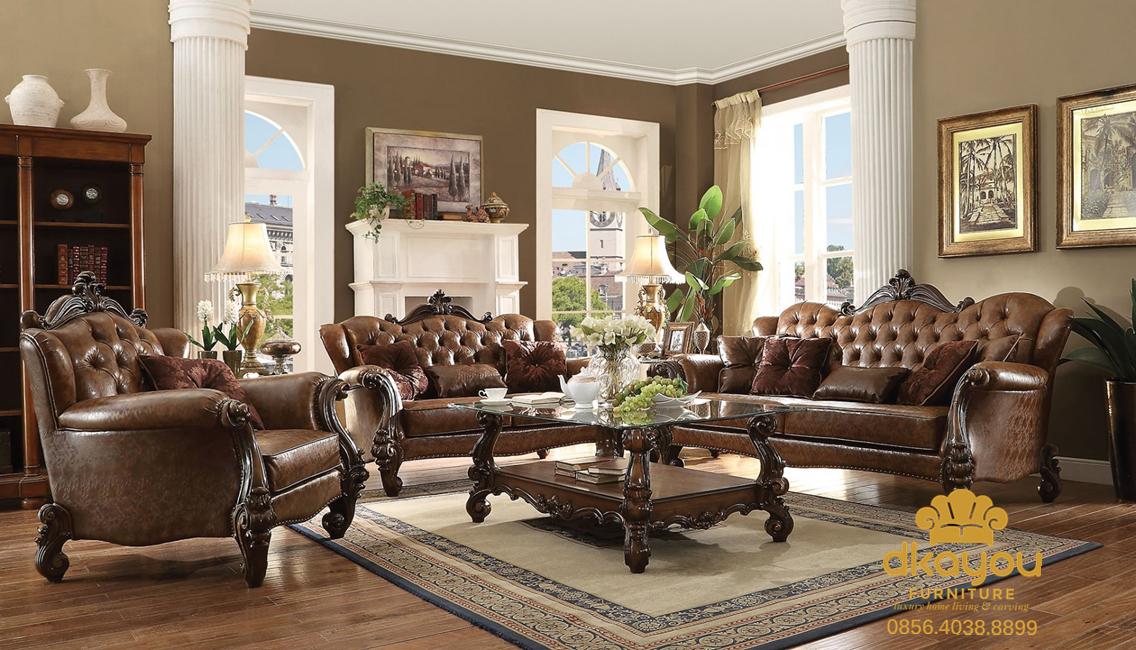model sofa tamu mewah klasik murah