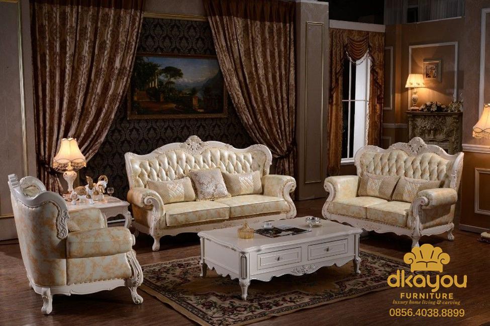 sofa tamu duco putih terbaru