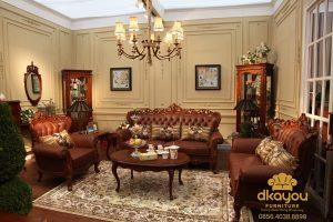 Sofa Klasik Jati Set Ruang Tamu SSRT-115 DF