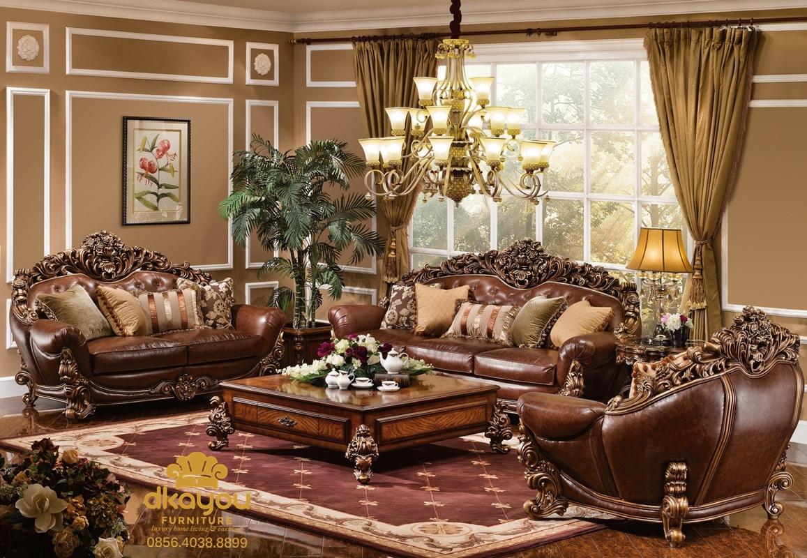 sofa tamu mewah kayu jati terbaru eropa