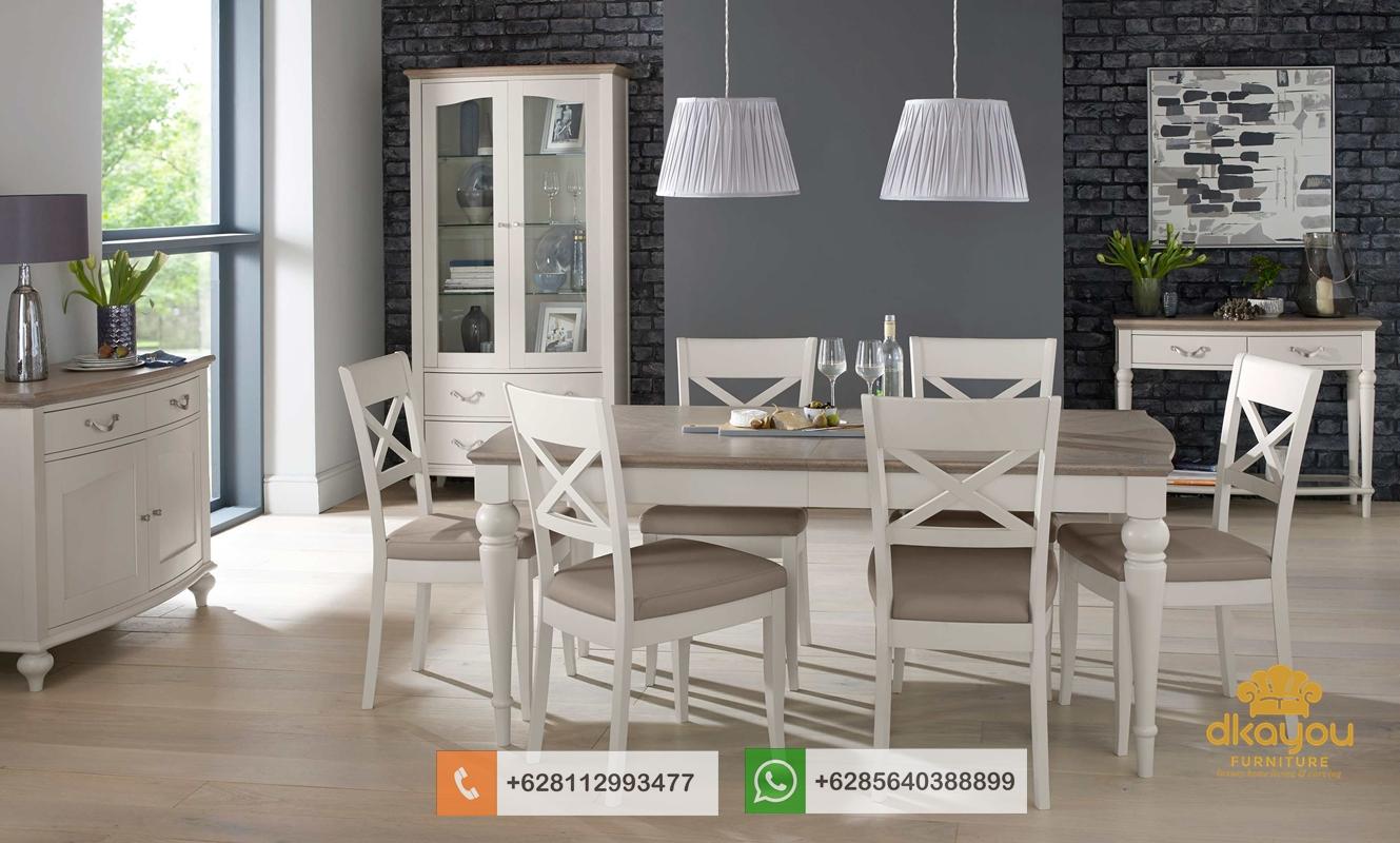 kursi meja makan minimalis duco putih