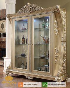 Lemari Hias Mewah Gold Italian Luxury Furniture AH019