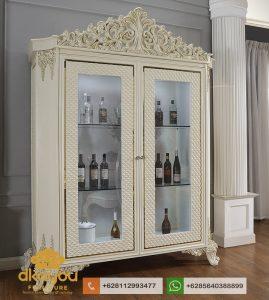 Lemari Hias Minimalis Classic White Luxury AH008