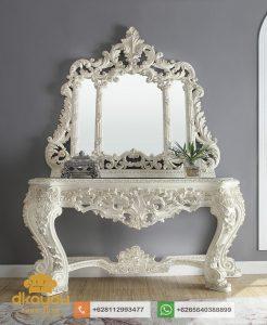 Meja Konsol Mewah Klasik White Victorian MK-034 DF