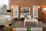 Set Buffet Tv Minimalis Klasik White Luxury Furniture BTV047