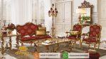 Set Sofa Tamu Mewah Klasik Gold Italian Luxury SSRT146