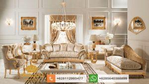 Set Sofa Tamu Klasik Mewah Italian Livingroom Mebel SSRT171