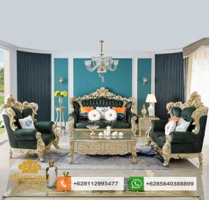 Set Sofa Tamu Mewah Classic Full Ukir Luxury Furniture SSRT152