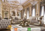 Set Sofa Tamu Mewah Klasik Gold Royal Livingroom SSRT169
