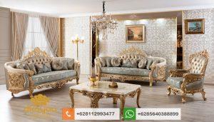 Set Sofa Tamu Mewah Klasik Koltuk Takimi Gold SSRT165