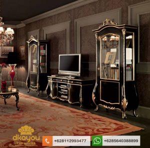 Set Bufet Tv Klasik Mewah Italian Furniture Terbaru BTV052