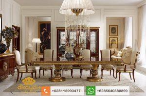 Set Meja Makan Klasik Mewah Dubai Furniture Jepara SMM064