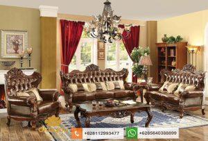 Set Sofa Mewah Ukiran Jati Jepara Terbaru SSRT219