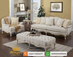 Sofa Klasik Modern Terbaru Putih France Livingroom Set SSRT221