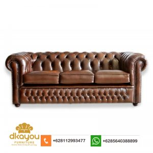 Sofa Kulit Chesterfield 3 Seater KS023