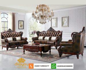 Set Kursi Sofa Tamu Klasik Mewah Terbaru SSRT260