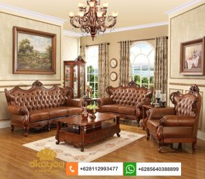 Sofa Mewah Klasik Eropa Kayu Jati Ukir SSRT262